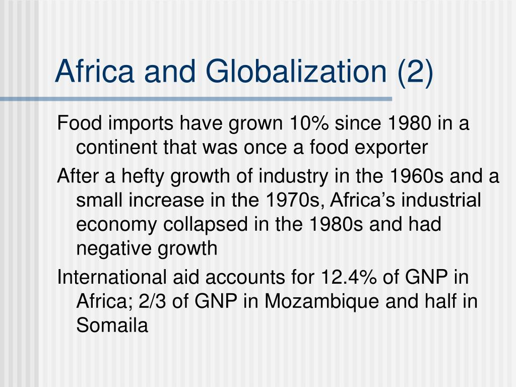 Africa and Globalization (2)