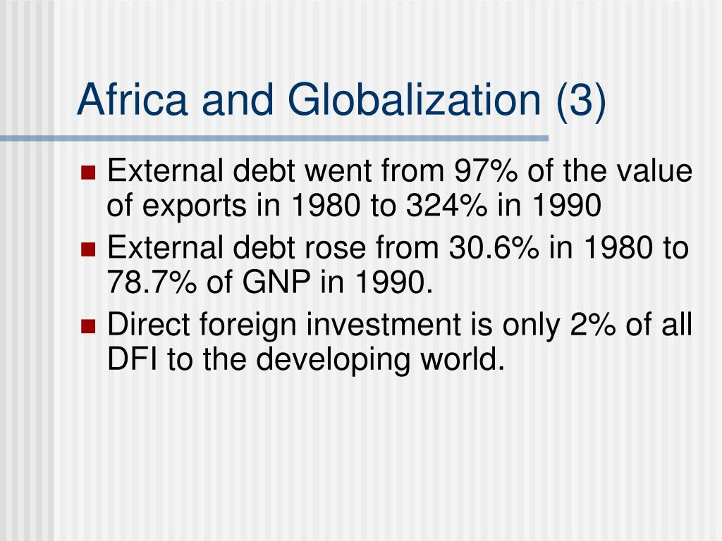 Africa and Globalization (3)