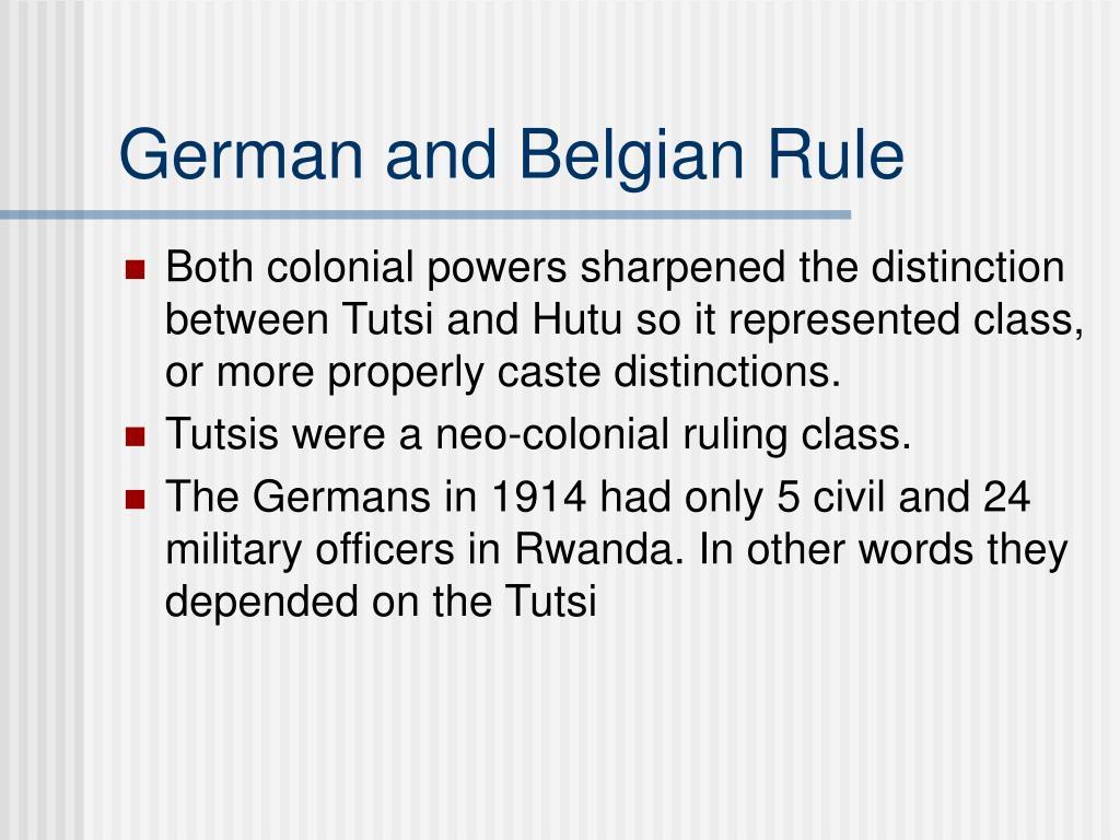 German and Belgian Rule