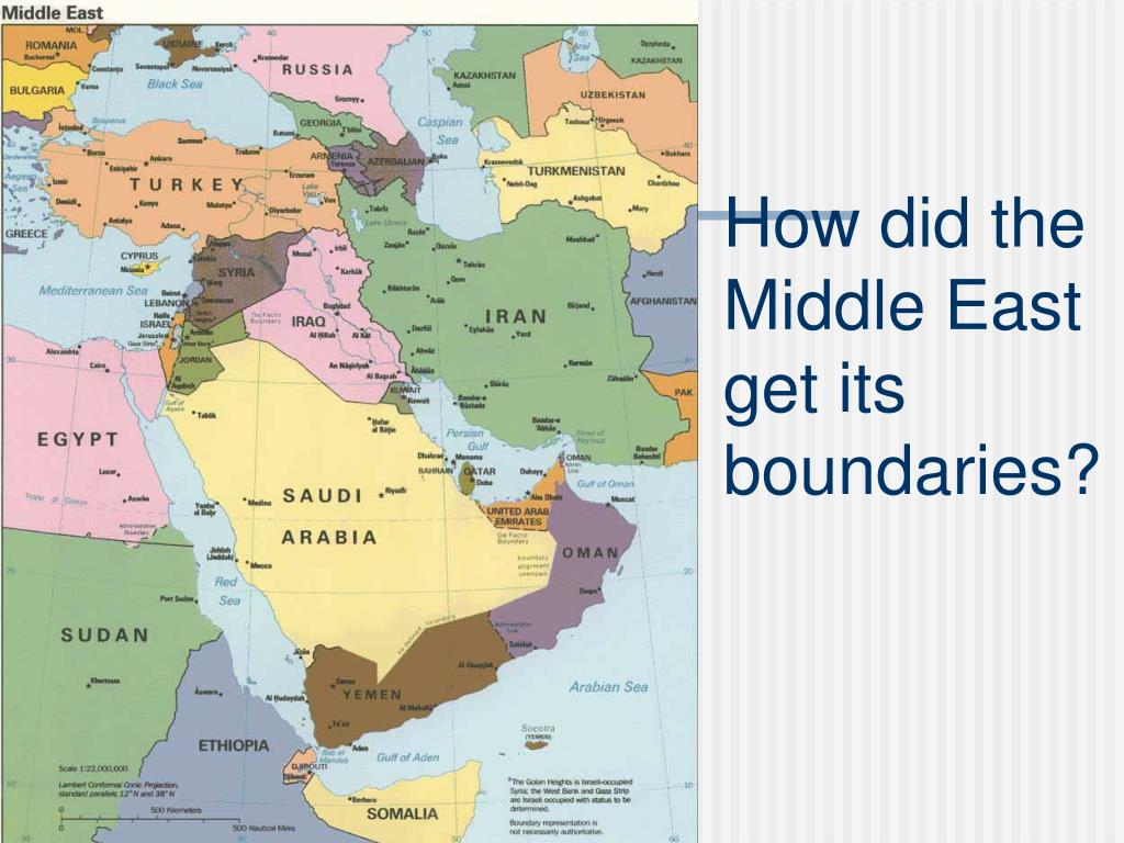 How did the Middle East get its boundaries?