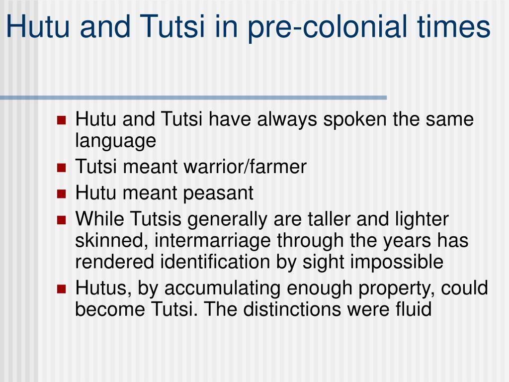 Hutu and Tutsi in pre-colonial times
