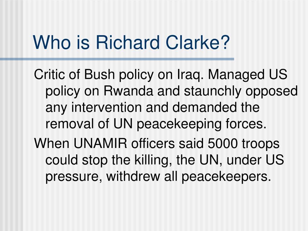 Who is Richard Clarke?