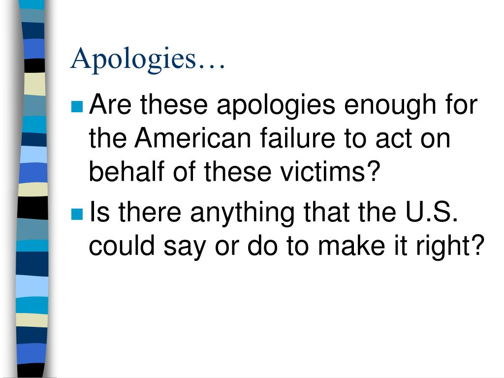 Apologies…