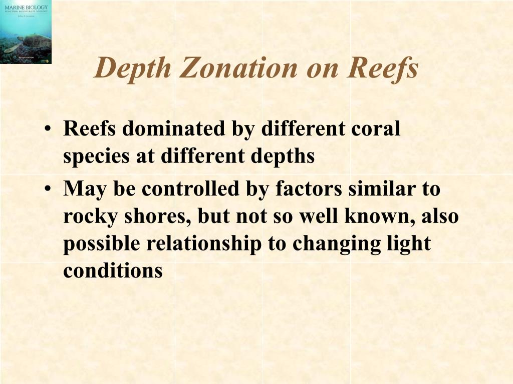 Depth Zonation on Reefs