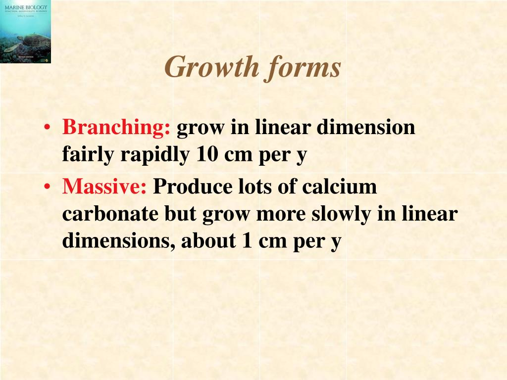 Growth forms