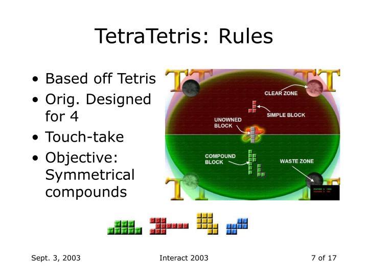 TetraTetris: Rules