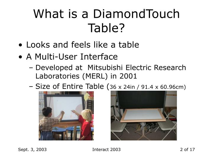 What is a DiamondTouch Table?