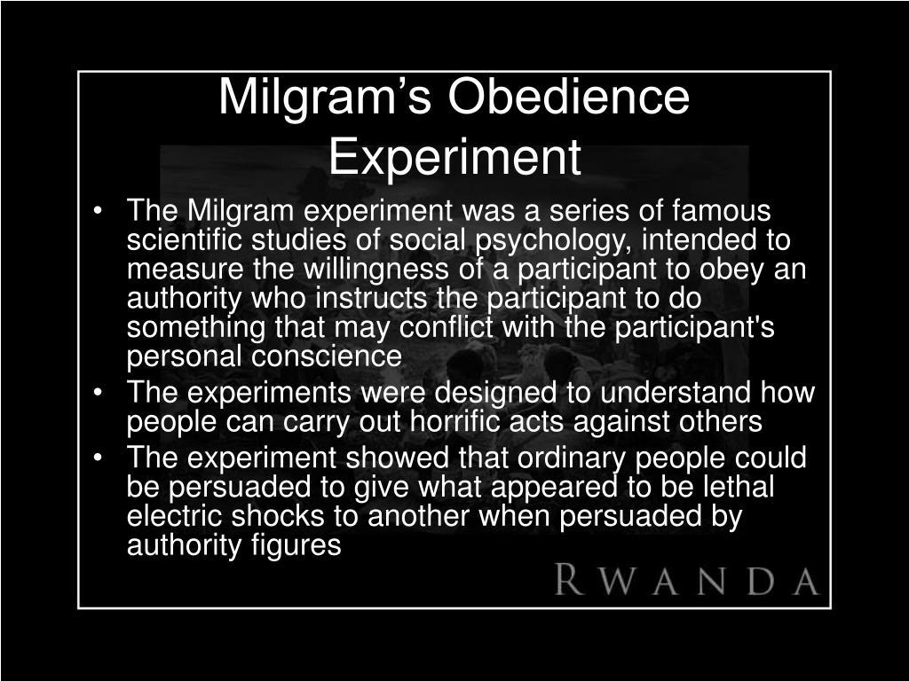 Milgram's Obedience Experiment