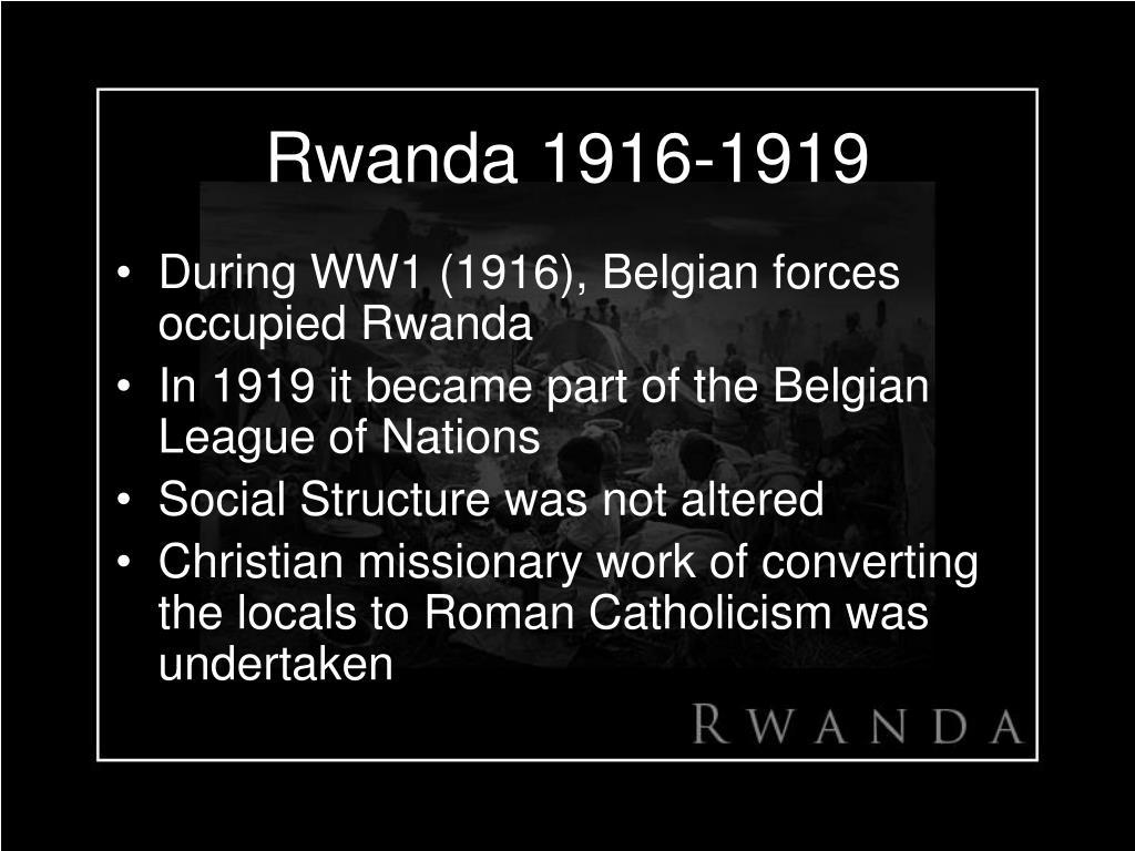 Rwanda 1916-1919