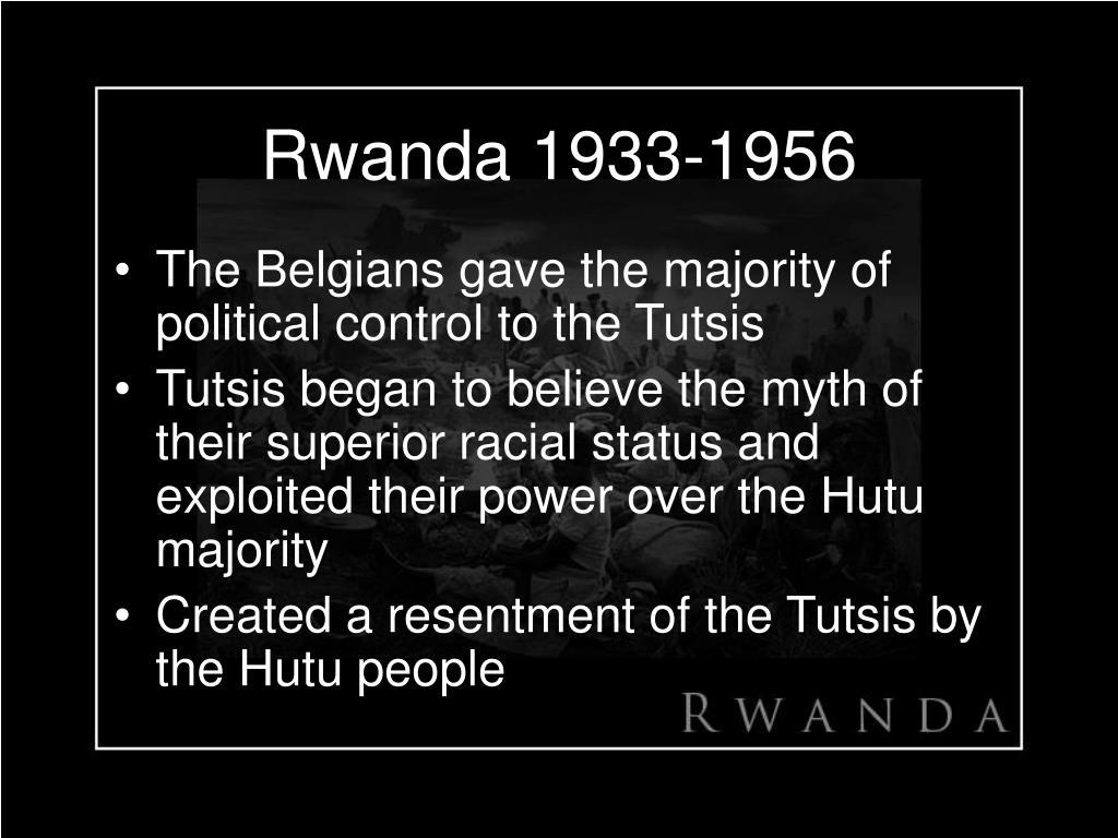 Rwanda 1933-1956