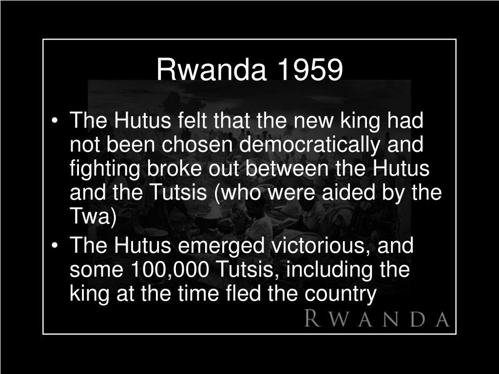 Rwanda 1959