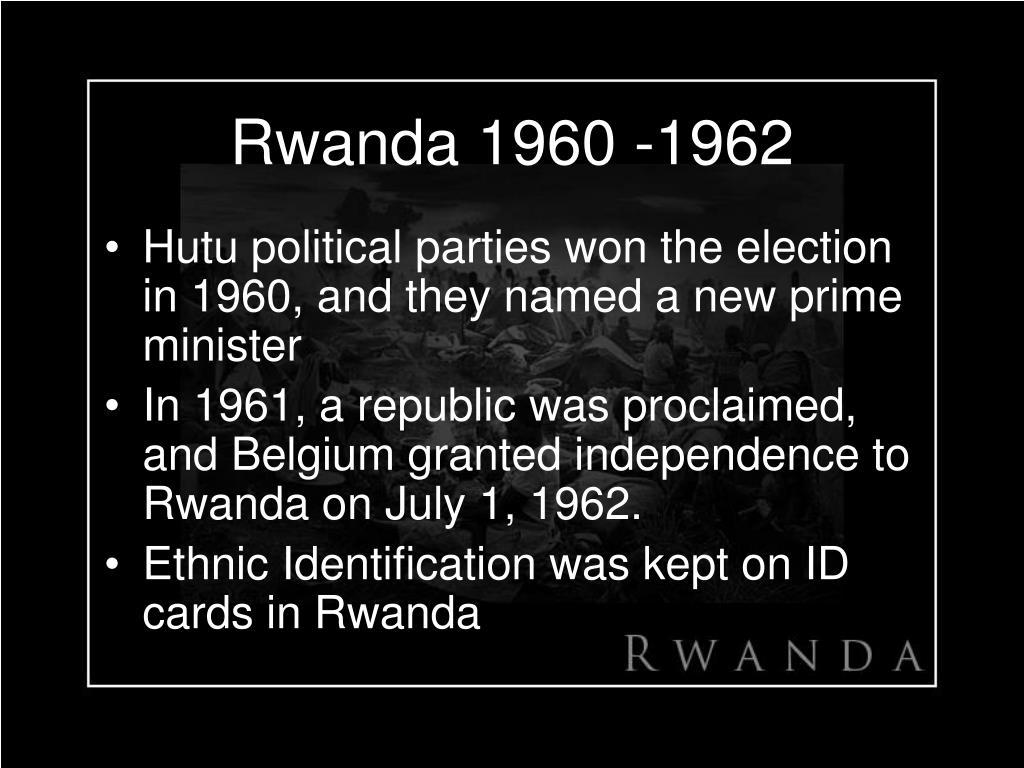 Rwanda 1960 -1962