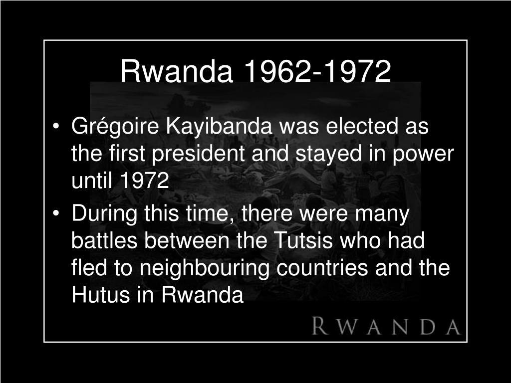 Rwanda 1962-1972