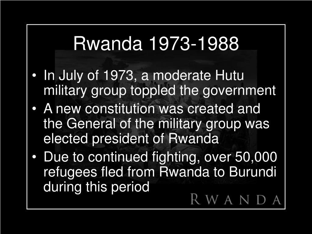 Rwanda 1973-1988