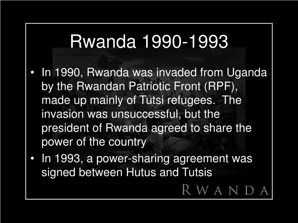 Rwanda 1990-1993