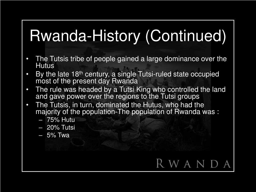 Rwanda-History (Continued)