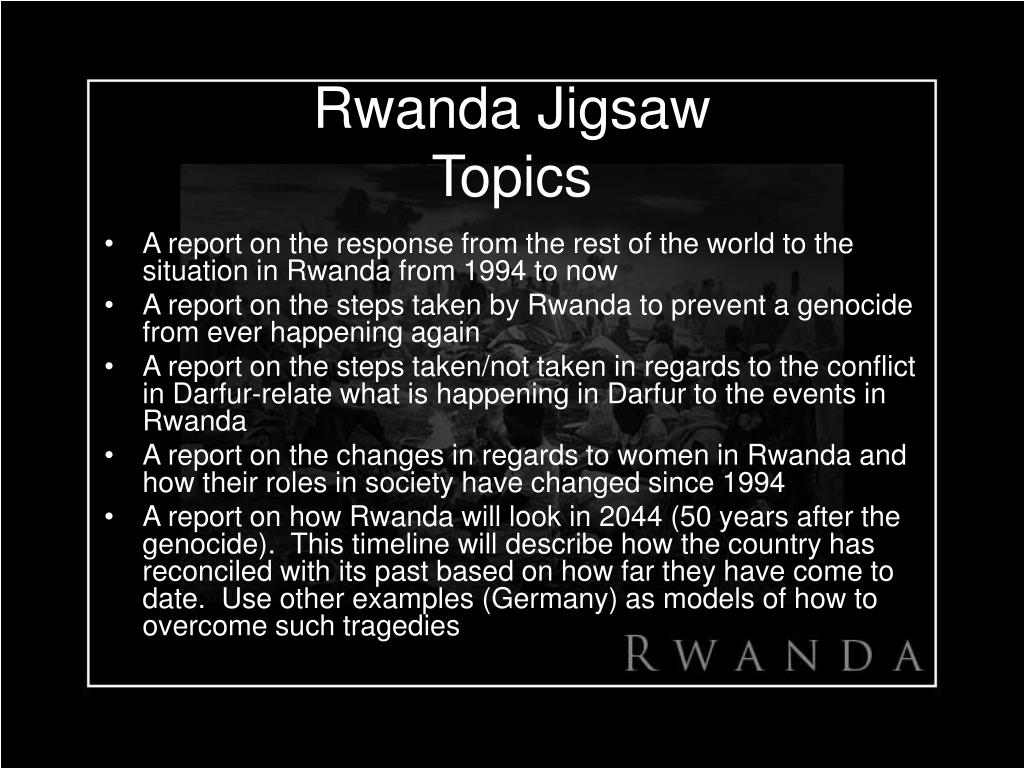 Rwanda Jigsaw