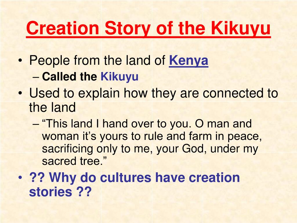 Creation Story of the Kikuyu