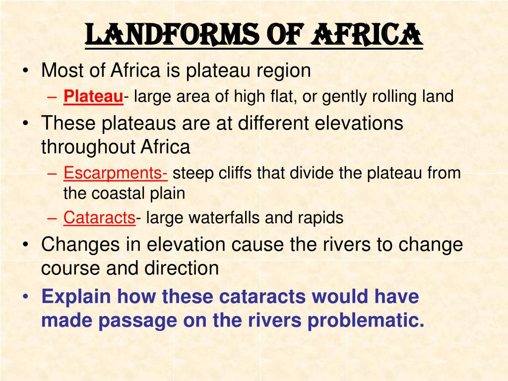 Landforms of Africa