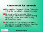 a framework for research