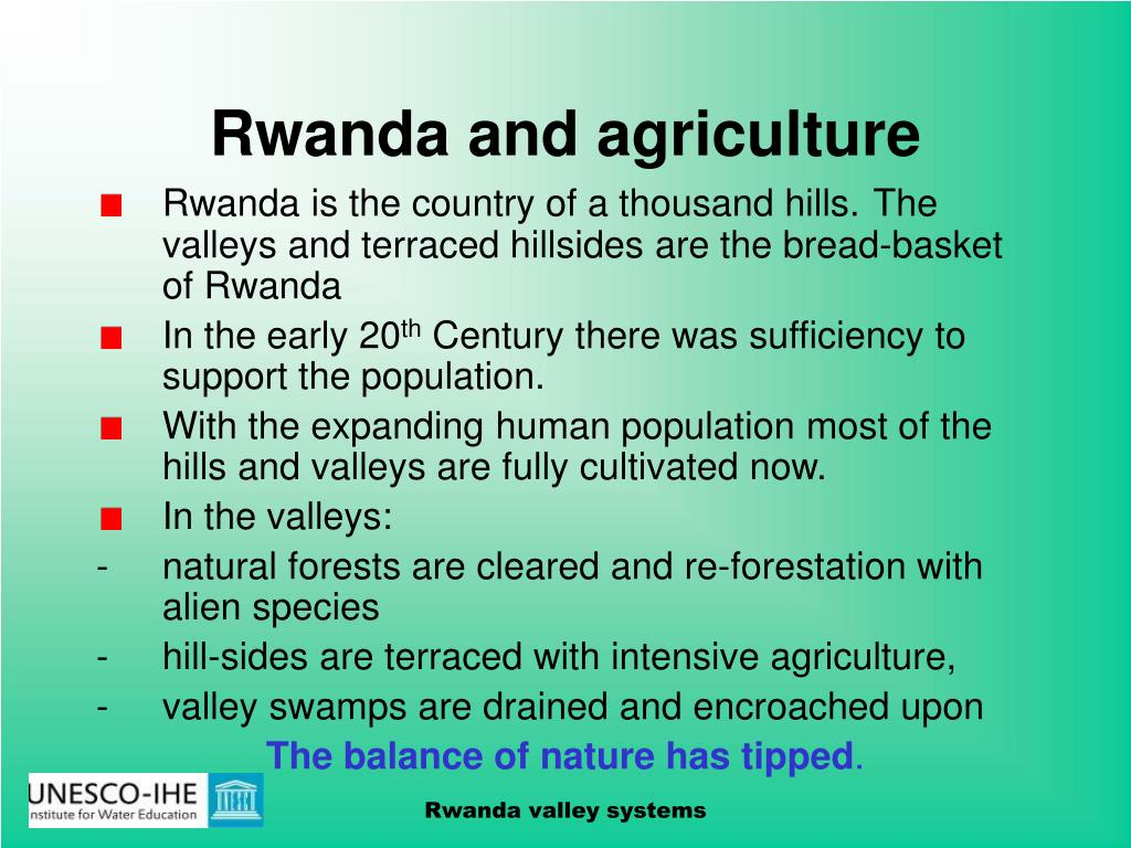 Rwanda and agriculture