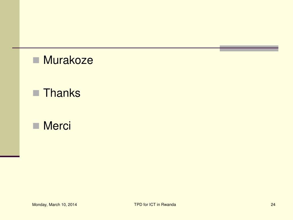 Murakoze