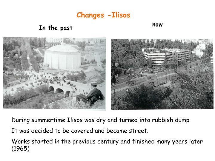 Changes -Ilisos