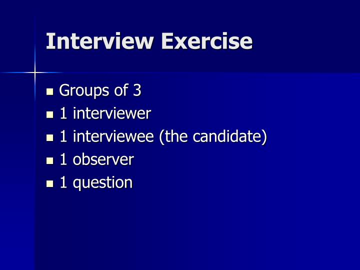 Interview Exercise