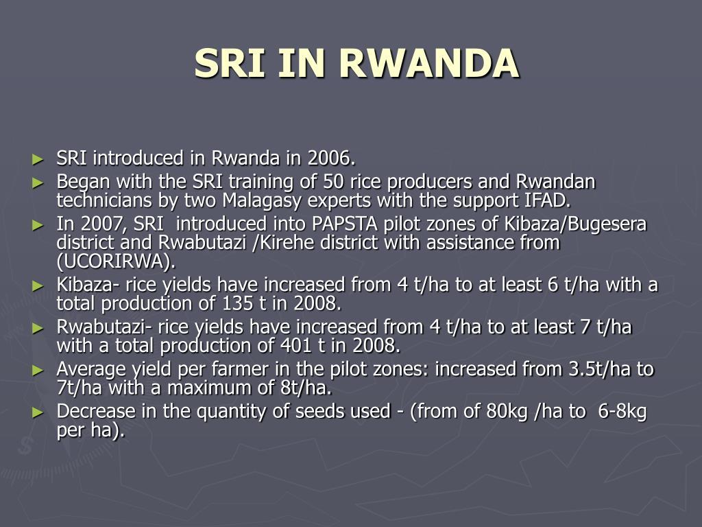 SRI IN RWANDA