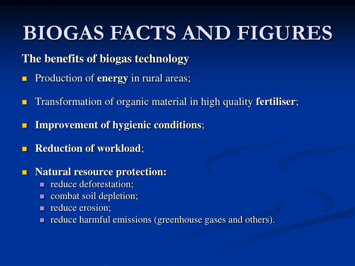 Biogas facts and figures
