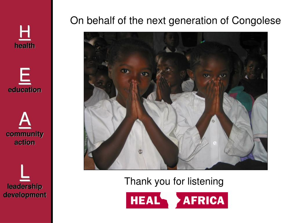 On behalf of the next generation of Congolese