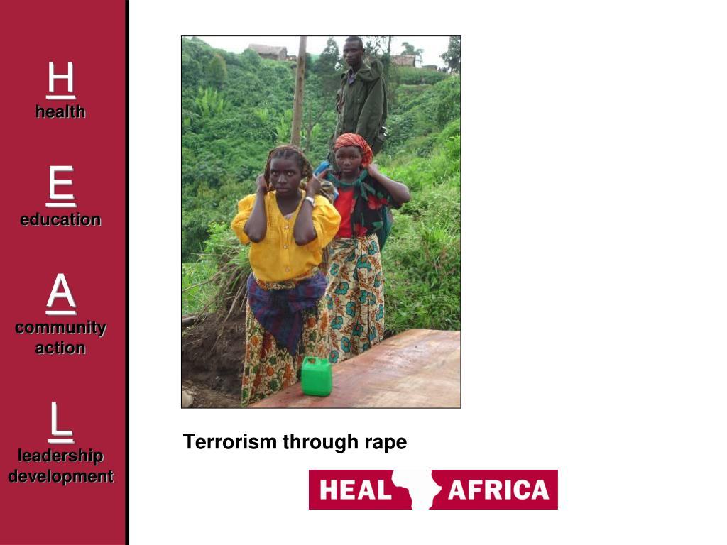 Terrorism through rape