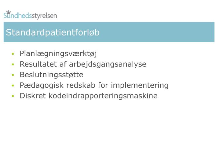Standardpatientforløb