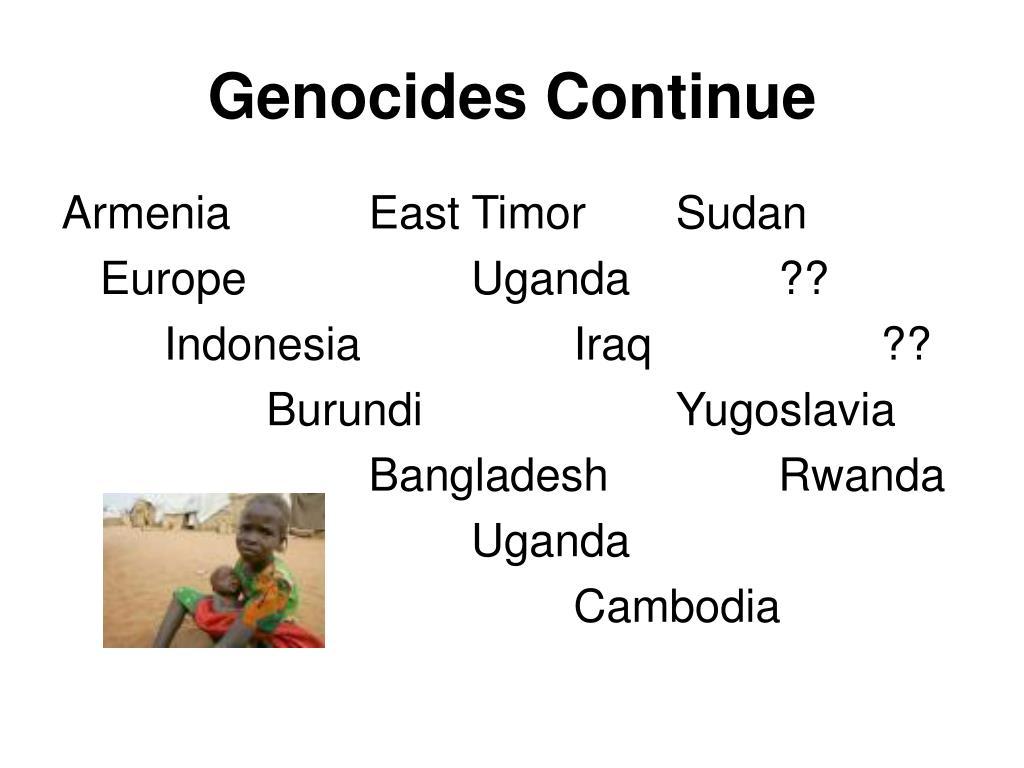Genocides Continue