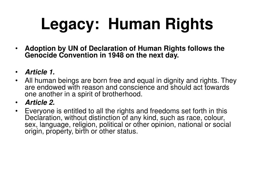 Legacy:  Human Rights