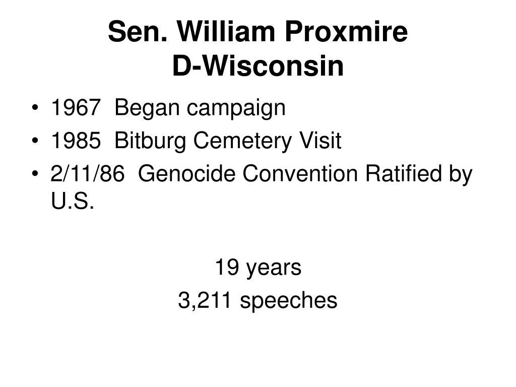 Sen. William Proxmire