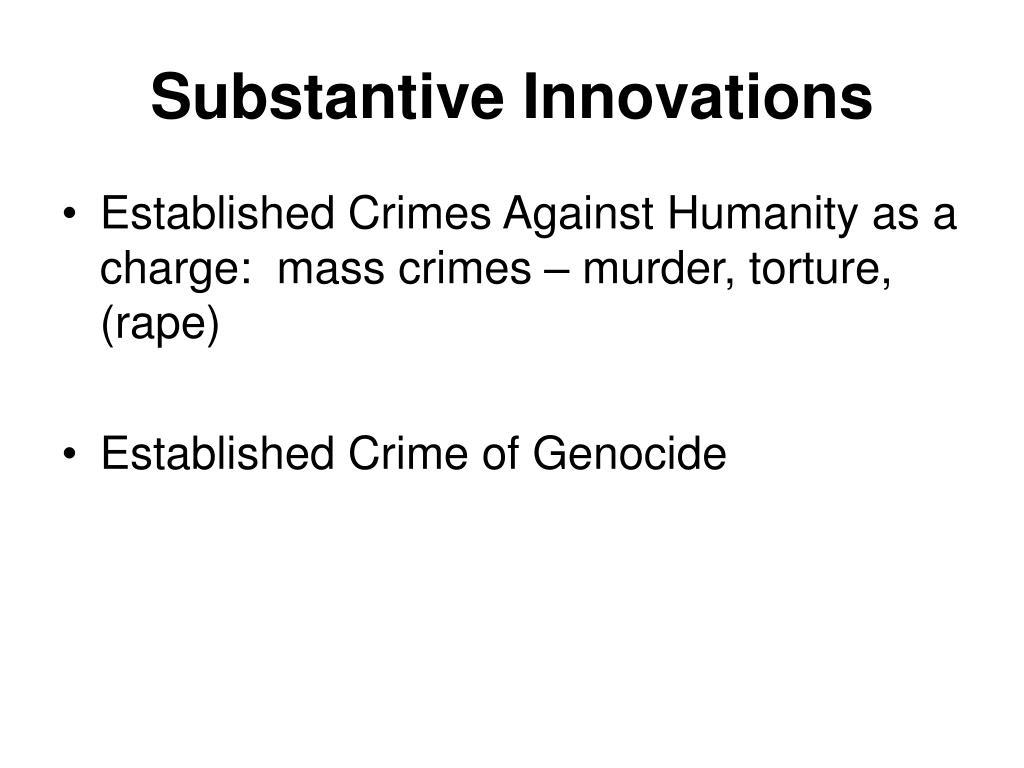 Substantive Innovations