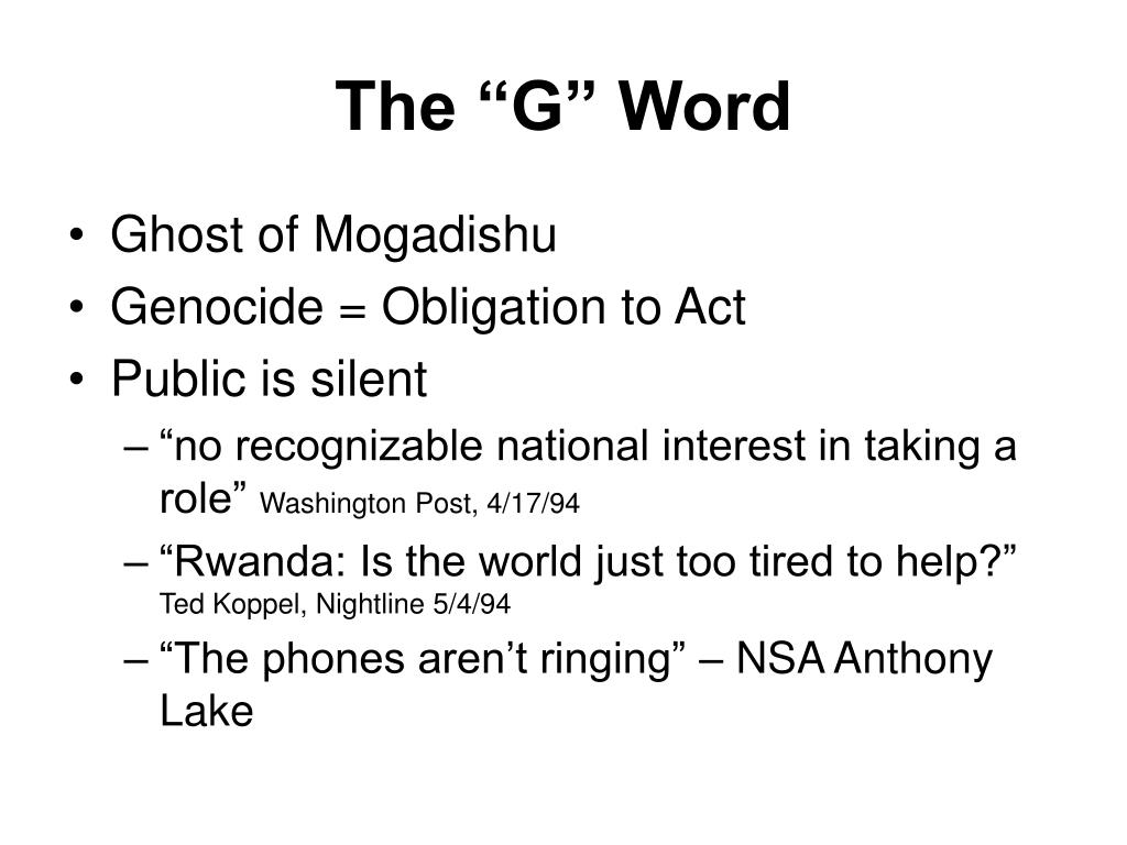 "The ""G"" Word"