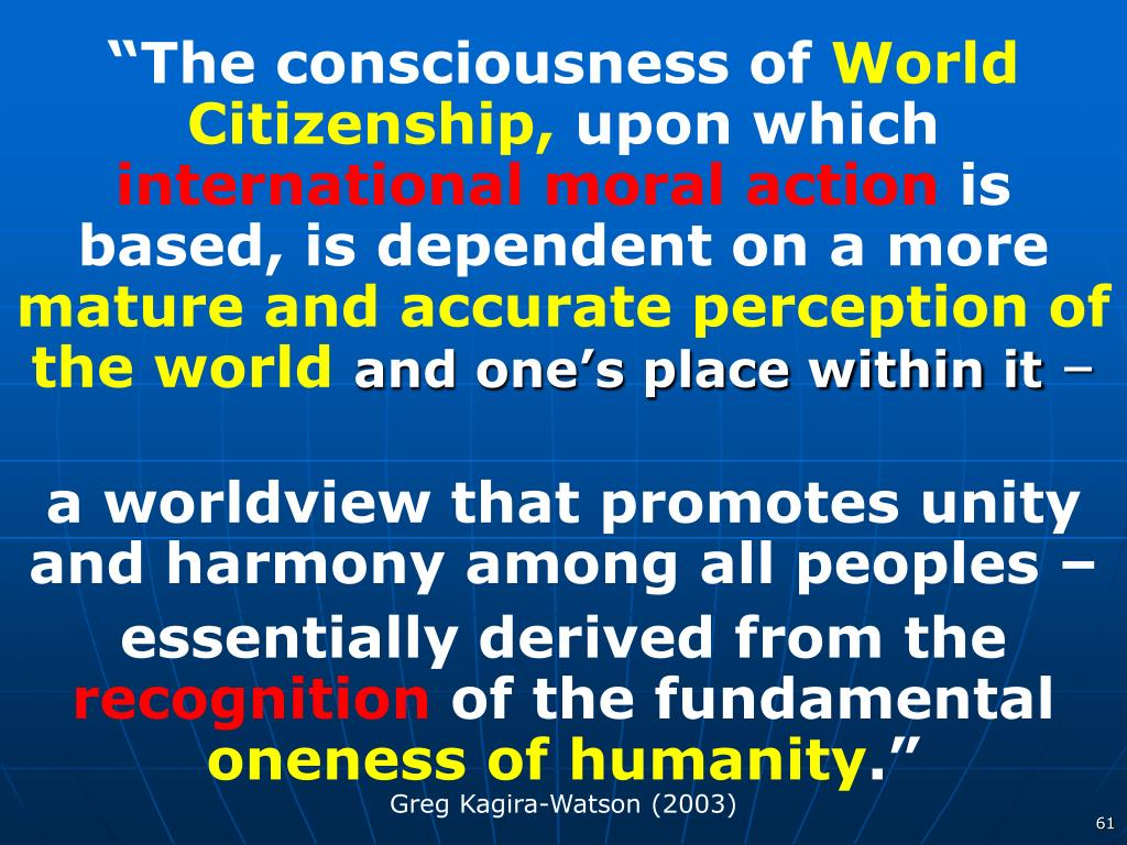 """The consciousness of"
