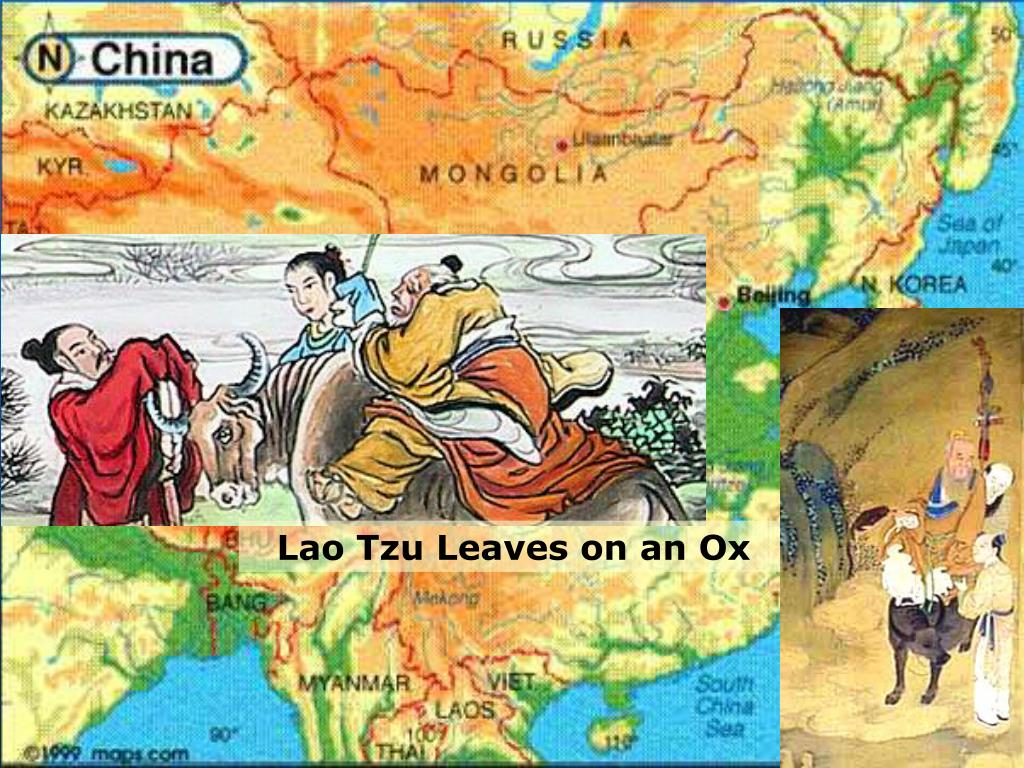 Lao Tzu Leaves on an Ox