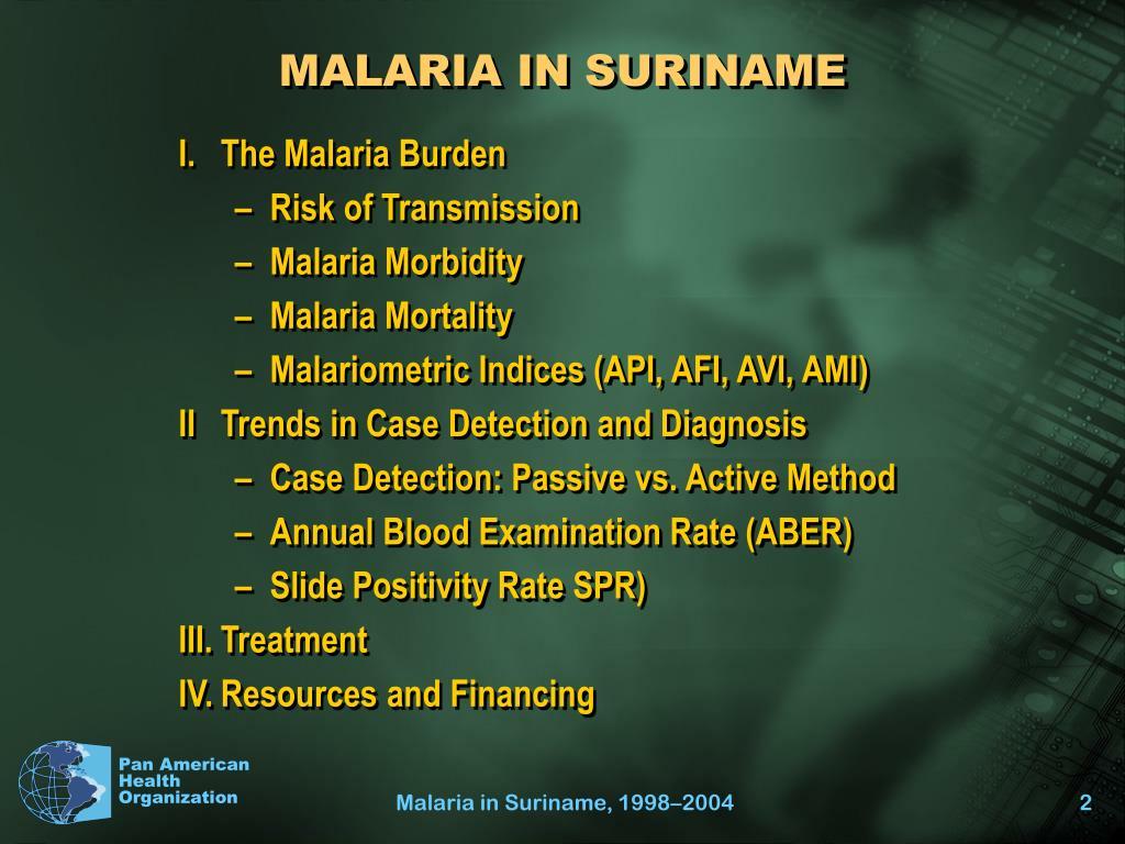 MALARIA IN SURINAME