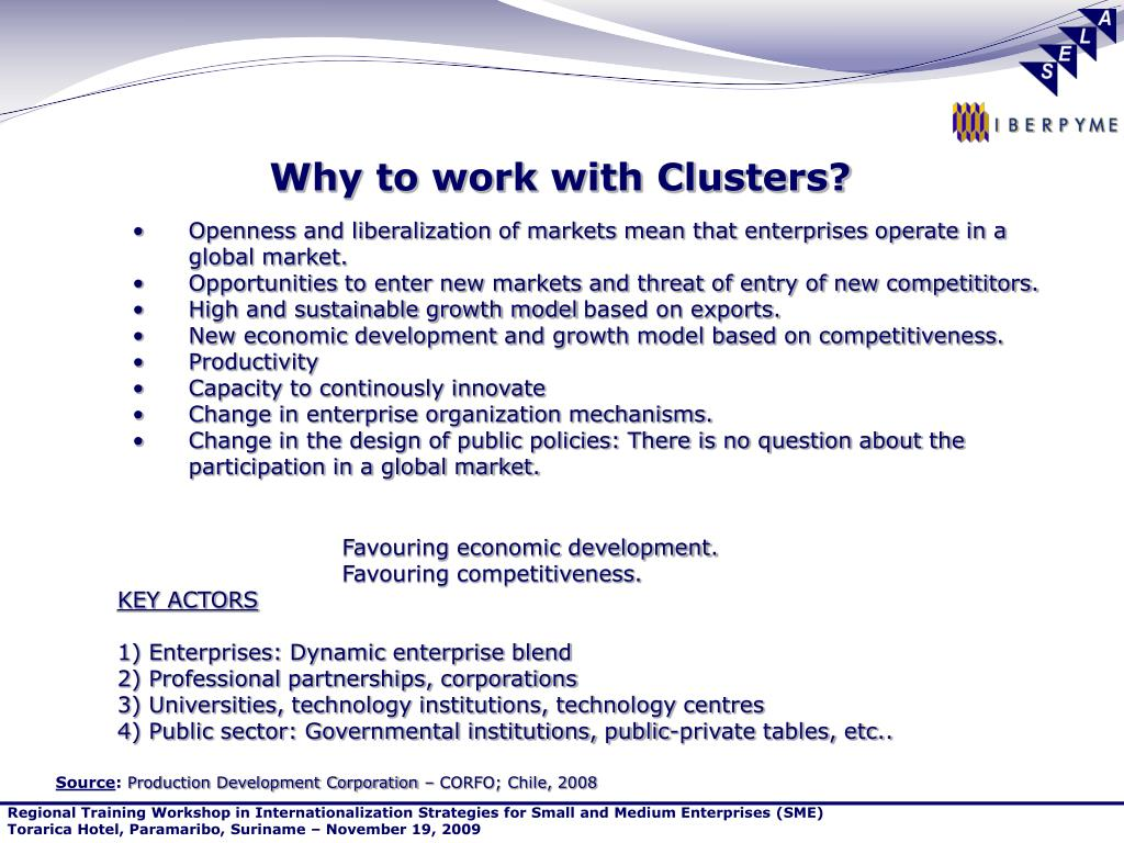 Why to work with Clusters?