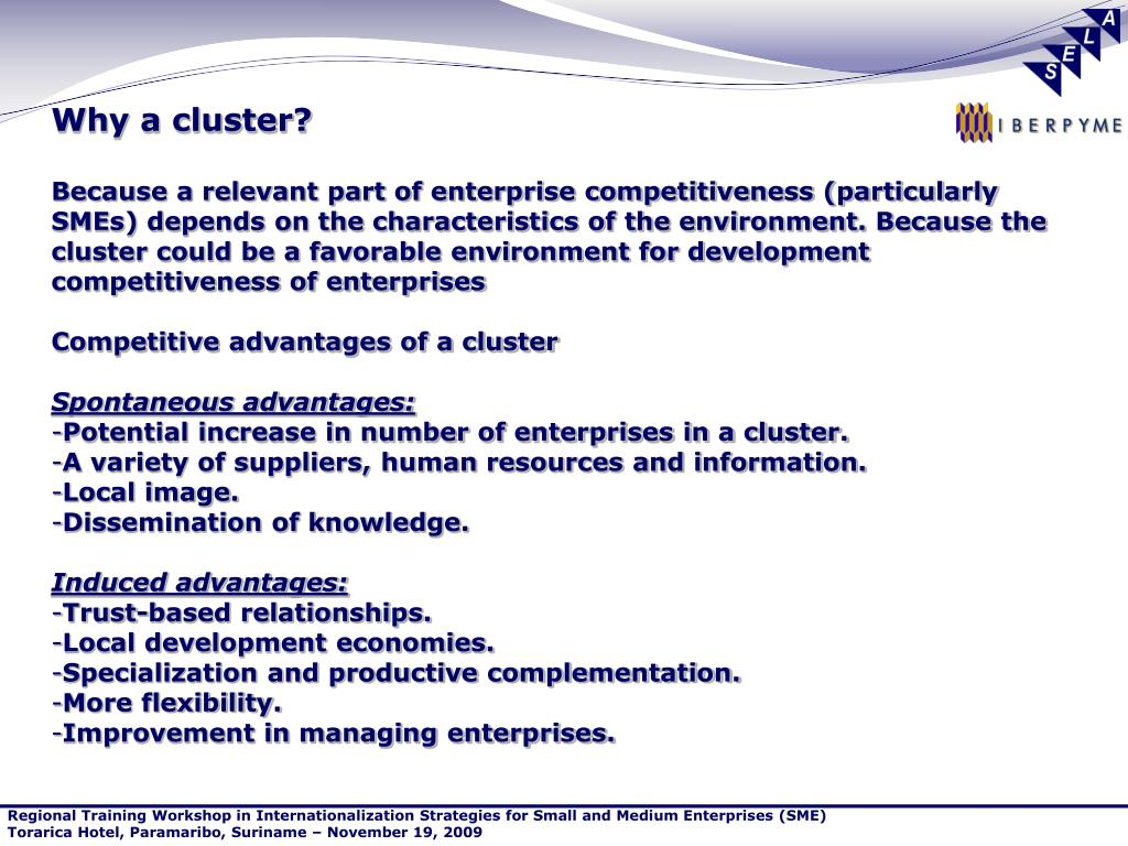 Why a cluster?