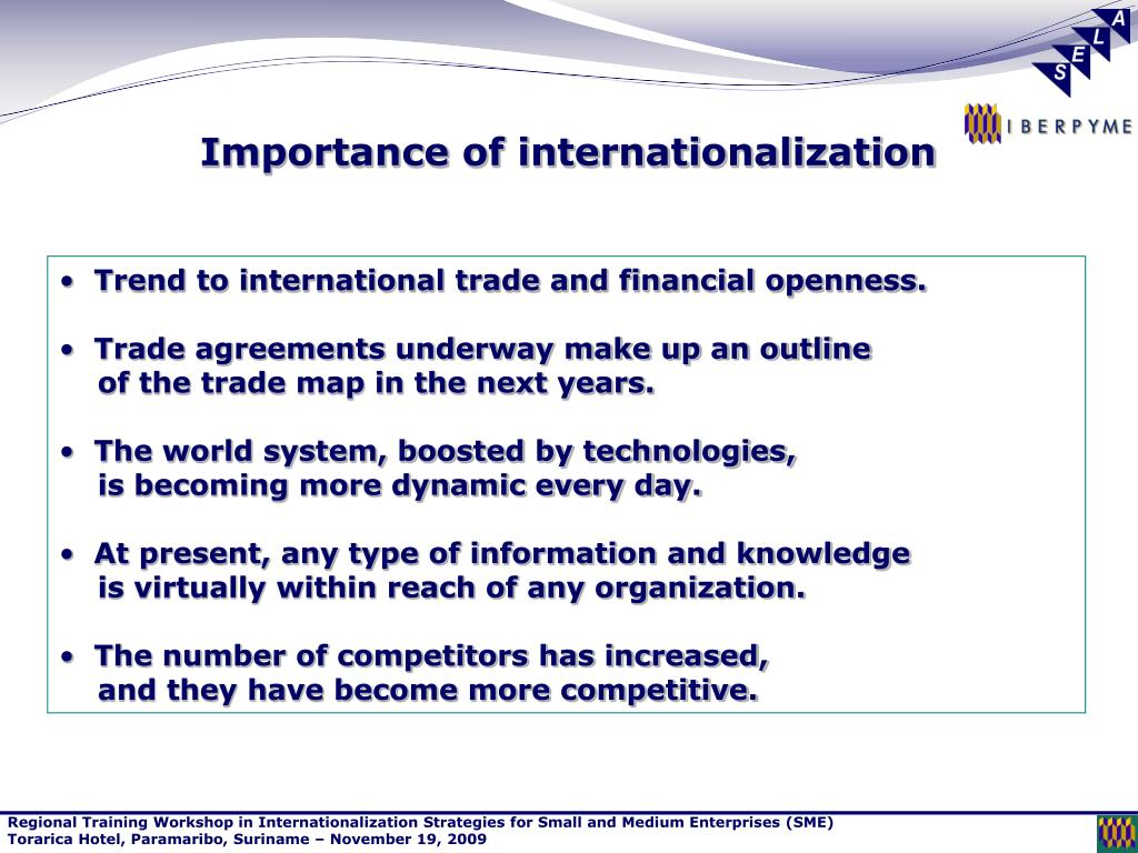 Importance of internationalization