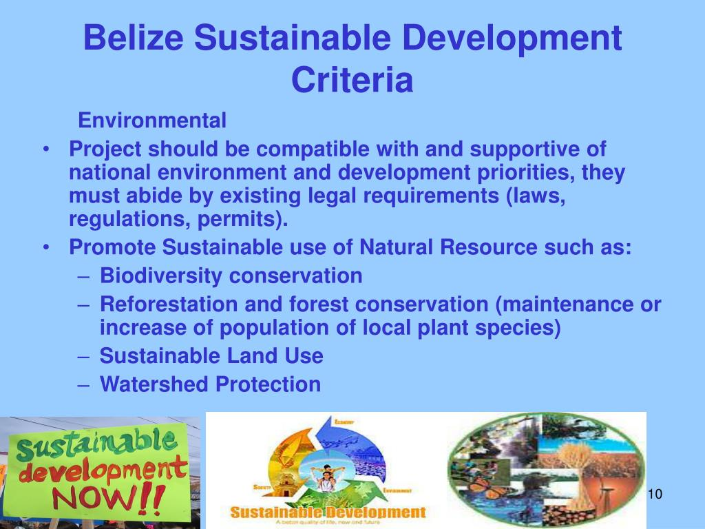 Belize Sustainable Development Criteria