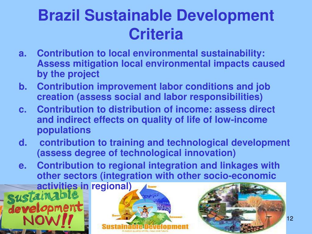 Brazil Sustainable Development Criteria