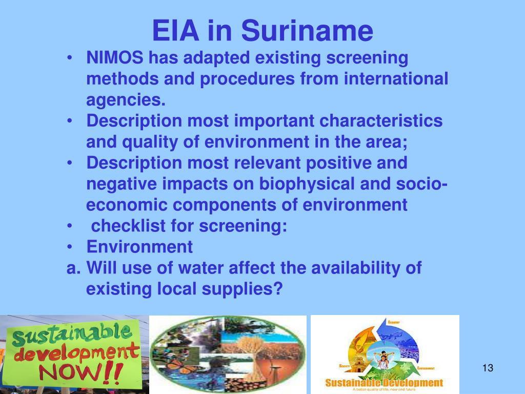 EIA in Suriname