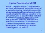 kyoto protocol and sd