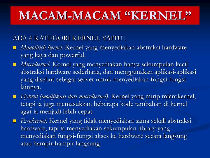 """MACAM-MACAM """"KERNEL"""""""
