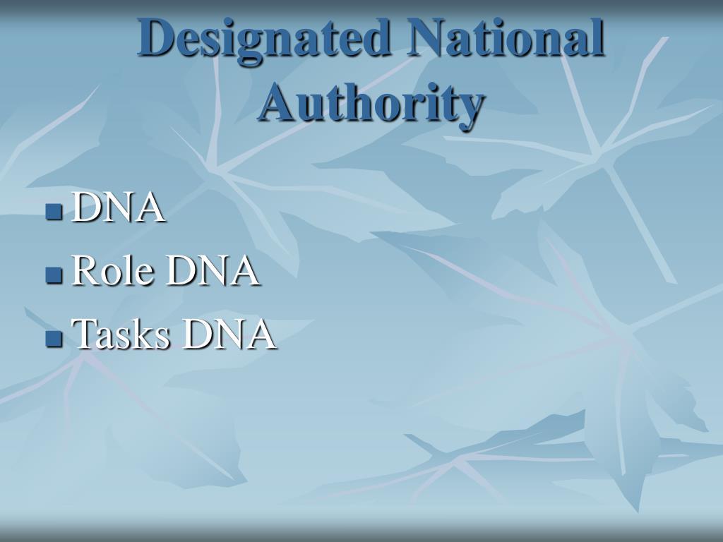 Designated National Authority